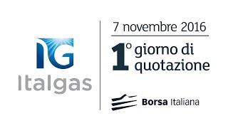 Cerimonia di Quotazione Italgas Borsa Italiana