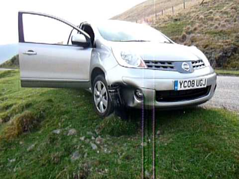 Louis & Mot in Scotland, crashing the rental car! - Mot ...