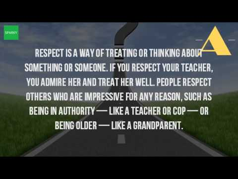 what does respect mean to you