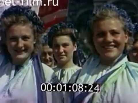 ВСЕСОЮЗНЫЙ ПАРАД ФИЗКУЛЬТУРНИКОВ. (1945) Часть 1