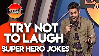 Try Not to Laugh  Superhero Jokes  Laugh Factory Stand Up Comedy