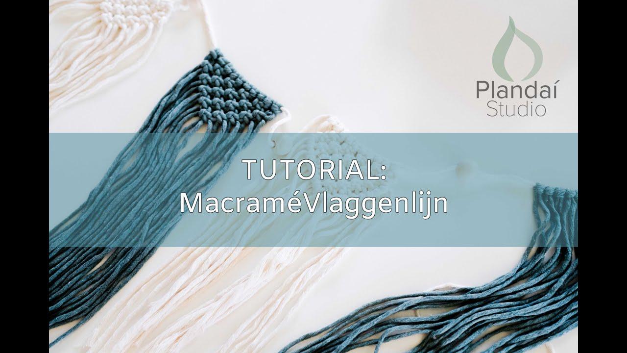 Macramé vlaggen slinger tutorial