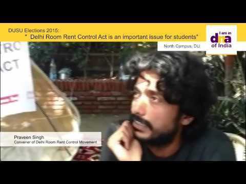 Delhi Room Rent Control Act is an important issue for DU students