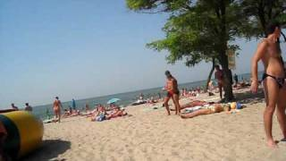 Детский  пляж в Очакове 18 августа 2008 г., 12:06:14(Просто отдыхал на пляже сьемка скрытой камерой без штатива :) аж не верится что это наш пляж :) 18 августа..., 2009-08-01T00:53:36.000Z)