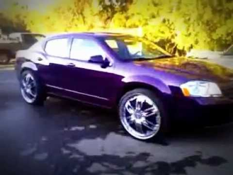 Dodge avenger on 24$ candy purple ready for 2011 classic orlando - YouTube
