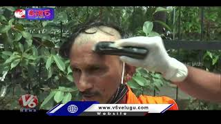 Father Protest With Shaved Head Against Tuition Fee In Punjab  Teenmaar News