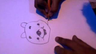 Como dibujar un guini poo juan