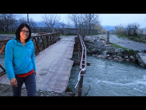 Camper Van Life In Albania // Sketchy River Crossing
