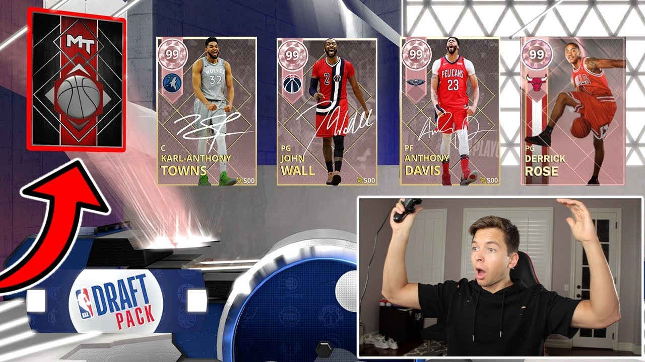 *FIVE* PINK DIAMOND PULLS! NBA 2K18 DRAFT PACK OPENING