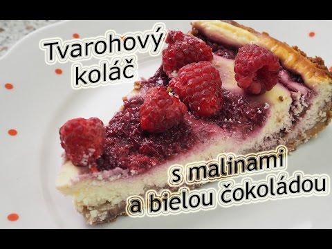 Tvarohový koláč s malinami a bielou čokoládou / Recept