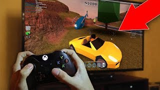 KID PLAYS NEW JAILBREAK ON THE XBOX (Roblox Jailbreak)