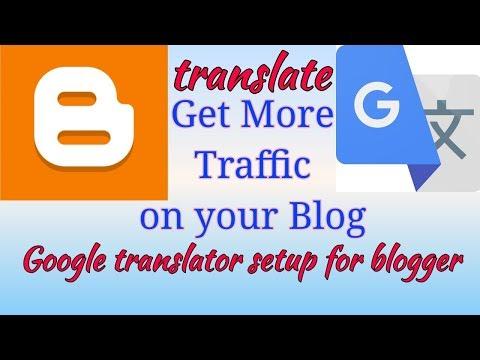 How to Add Language Translation on blogger blog 2021