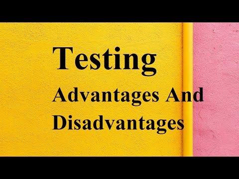 Testing Advantages And Disadvantages