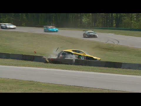 Pirelli World Challenge (SprintX GT) 2018. Race 1 Grand Prix of Virginia. Álvaro Parente Hard Crash
