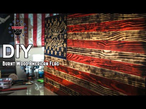 How To Make a Burnt Wood American Flag