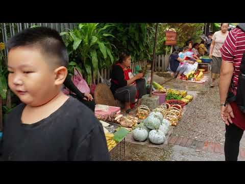 Fleat market In luang prabang laos Day 2 Part 2