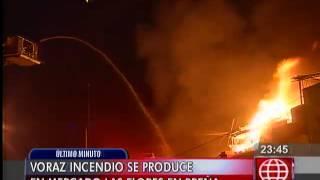 Gran incendio se registra cerca al Hospital del Niño en Breña