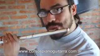 Flauta  transversal - Como tocar las Primeras notas