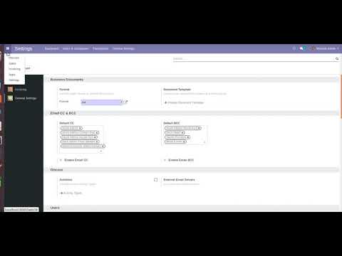 Odoo CC and BCC setting Customer Email.