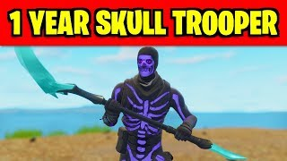 C'est la peau NEW SECRET en fortnite (1 année Skull Trooper Anniversary Skin)