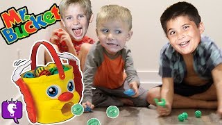 QUICK Toss the Balls into Mr. Bucket with HobbyKids
