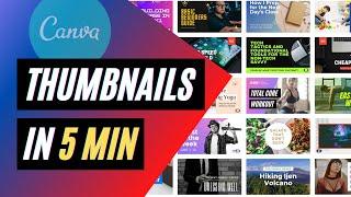 FREE fast thumbnails, canva youtube thumbnail template tutorial!