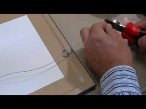 How To Tie Wire On Picture Frames - YouTube