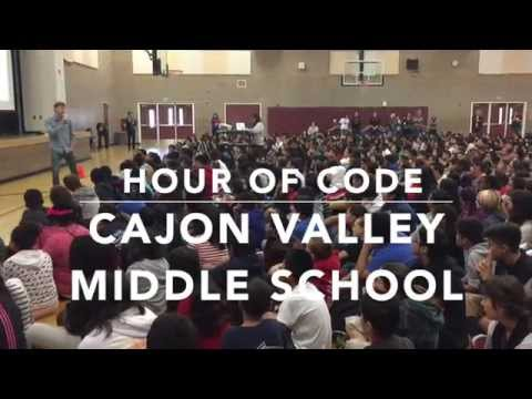 Cajon Valley Middle School Hour Of Code - YouTube