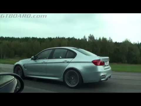 BMW M3 F80 vs Mercedes SL600 V12 BiTurbo with ECU tune