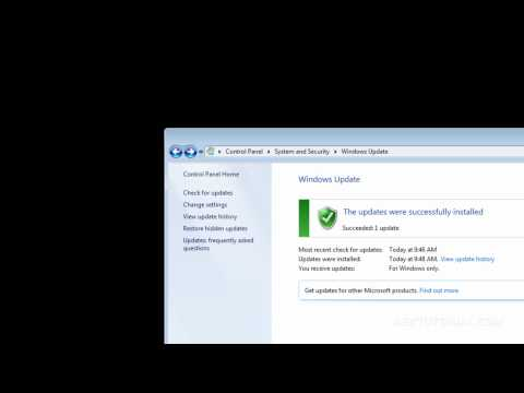 WINDOWS 7: ACTUALIZAR SISTEMA OPERATIVO WINDOWS UPDATE