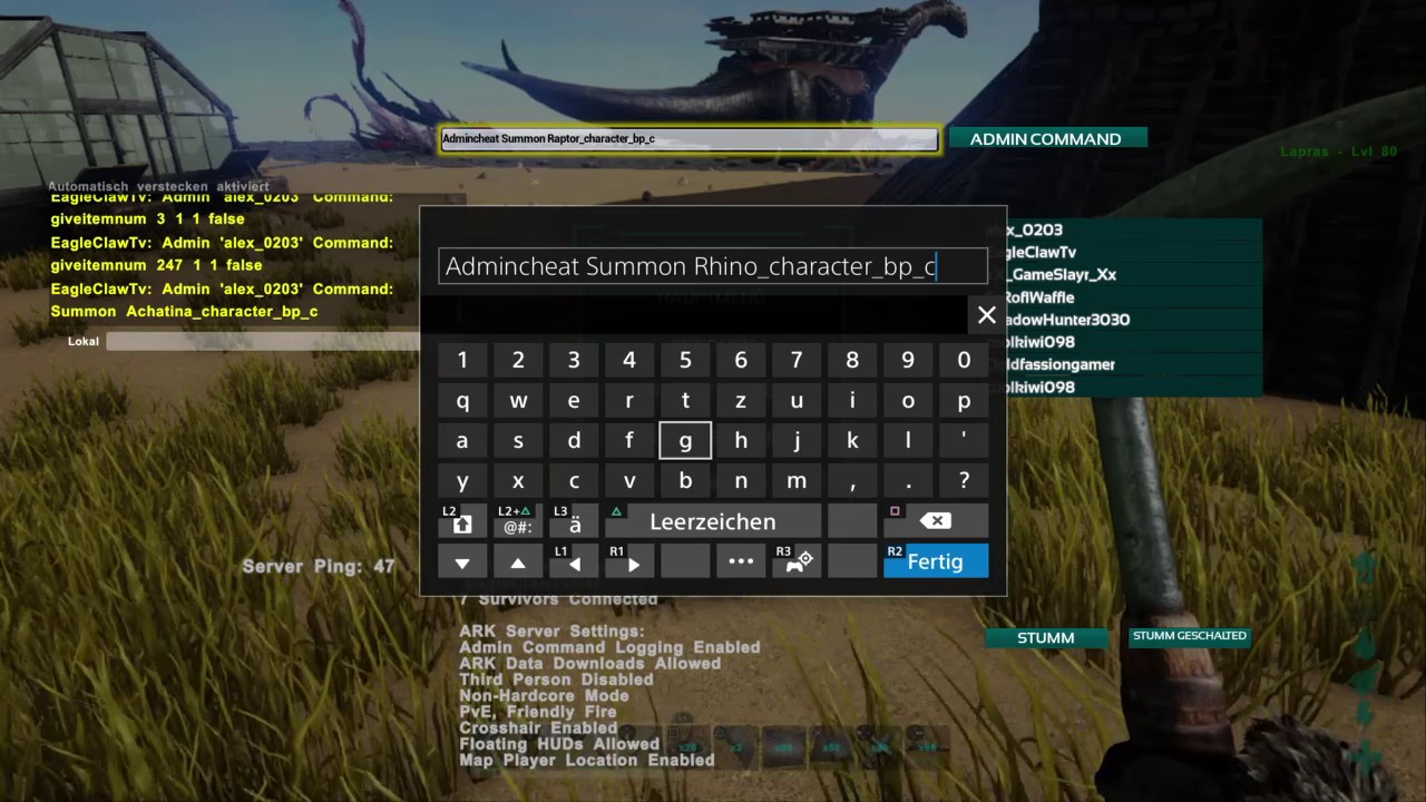 Ark Survival Evolved Ps4 Cheats