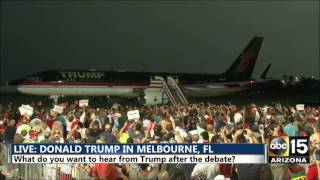 LIVE: Donald Trump's OVER THE TOP arrival is EVERYTHING - Melbourne, FL