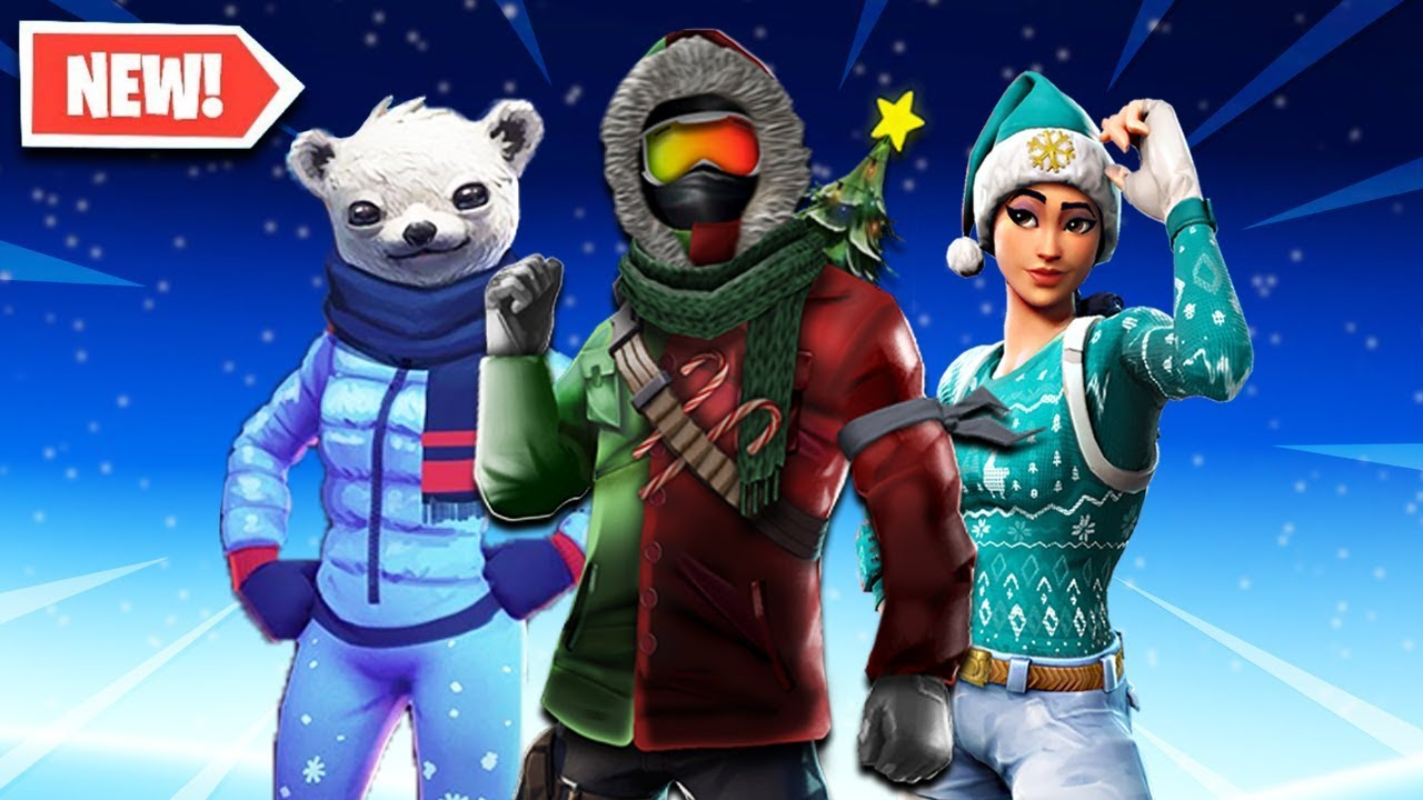 Top 10 New Christmas Skins Coming To Fortnite Season 7 Fortnite