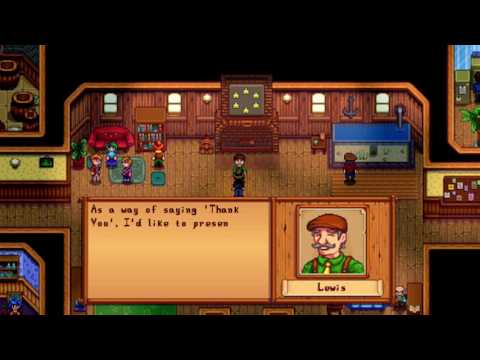 Stardew Valley Community Center completed cutscene