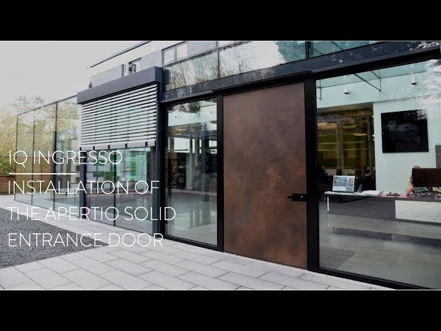 Apertio Solid Entrance Door Installation I IQ Ingresso