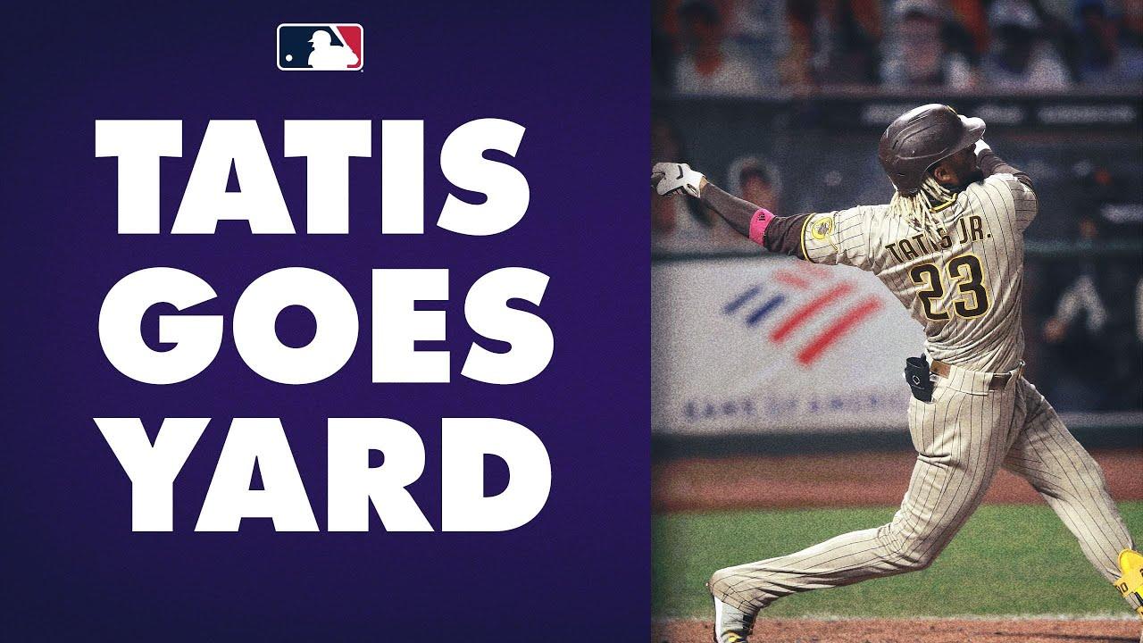 Fernando Tatis Jr. CRUSHES his 17th homer of the season off Giants' Johnny Cueto!