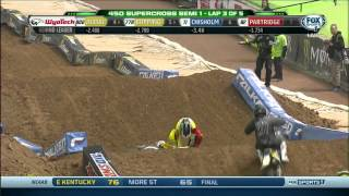 Repeat youtube video 2014 Supercross Phoenix Crashes ᴴᴰ (Practice Crashes Included)