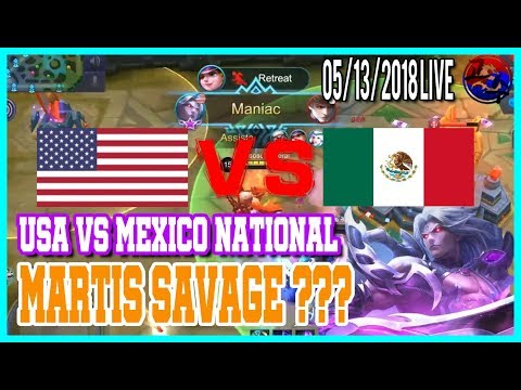 National Arena USA VS MEXICO / North America Marksman Player / Mobile Legends