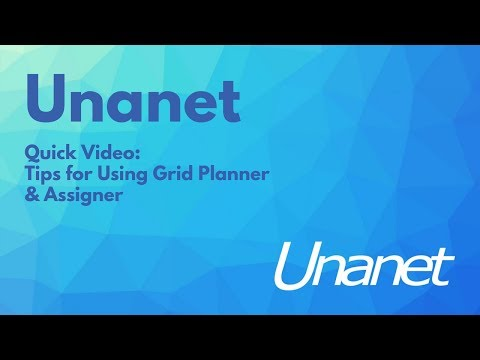 Unanet Quick Video - Tips For Using The Grid Planner & Assigner