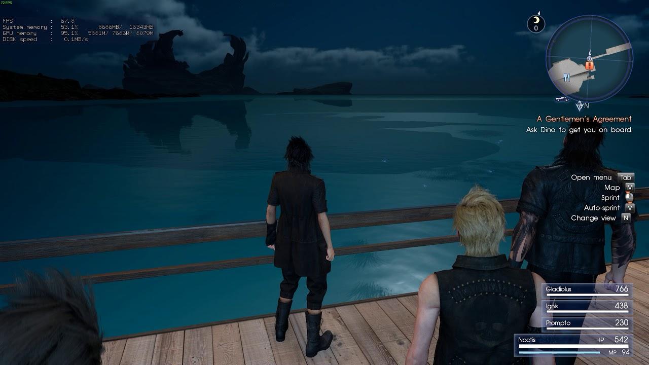 final fantasy xv pc shadow glitch
