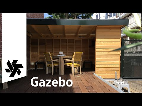 Building a Gazobe on a Roof Terrace