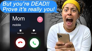 Texting My DEAD Mom!!! *SHE CALLED ME* (Scary Text Message Story)