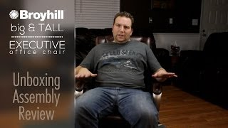 broyhill big u0026 tall executive office chair unboxing review - Office Chair For Short Person