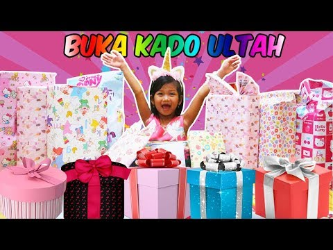 Asik!!! Yuk Buka Kado Ulang Tahun Hana ke 5 - Apa Hadiahnya ya??? Opening Birthday Present Box