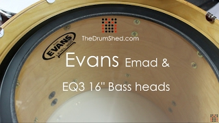 "Evans 16"" Emad & EQ3 Bass Head Review"