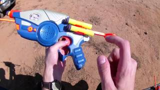 Vintage Review: Nerf Dual CyberStrike Commlink II Guns (Walkie Talkies and blasters in 1)