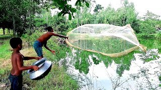 Net fishing videos Fish hunting by cast net।Cast net fishing(part-308)