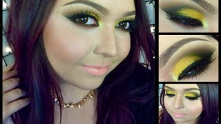 Look: Bumble Bee (An intense yellow smokey eyes with coral lips) Thumbnail