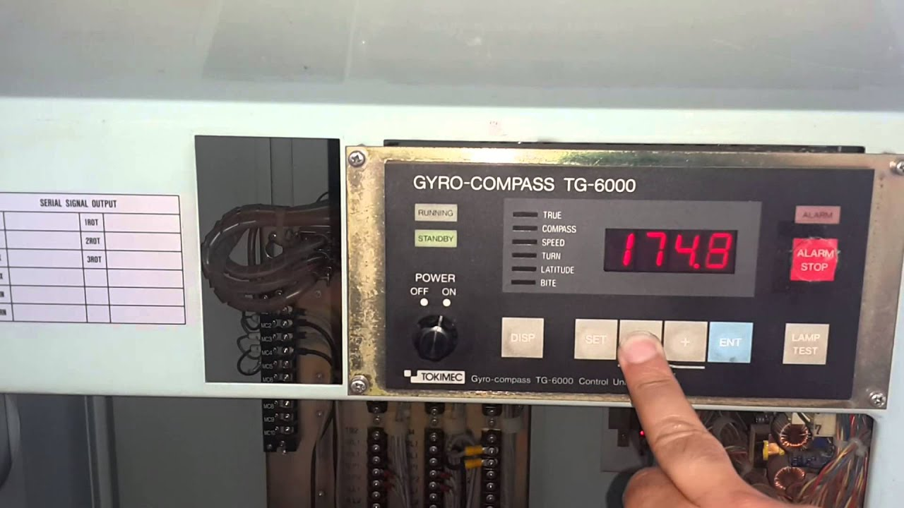 ozelmarine tokimec tg6000 gyrocompass youtube rh youtube com tg8000 gyro service manual