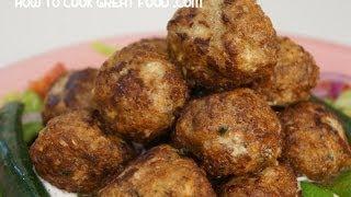 Arabic Lamb Meatballs Recipe - Middle Eastern Sumac Cumin Kofta Keema